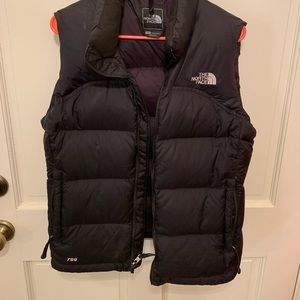 Black North Face vest, size med.